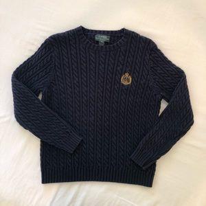 Ladies navy blue Lauren by Ralph Lauren sweater.